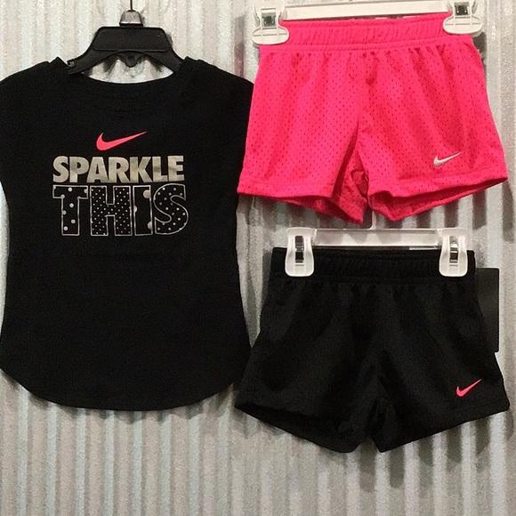 baf819cbed Nike Matching Sets | Sparkle Tee And Shorts | Poshmark